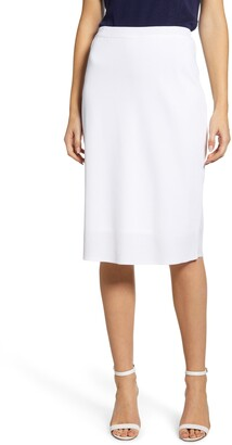 Ming Wang A-Line Knit Skirt