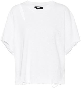 Amiri Distressed cotton T-shirt