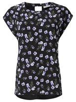 Jeanswest Lou Print Front Tee-Multi Black-XS