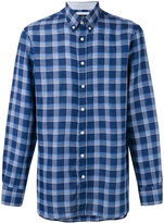 Hackett checked shirt - men - Cotton/Linen/Flax - S