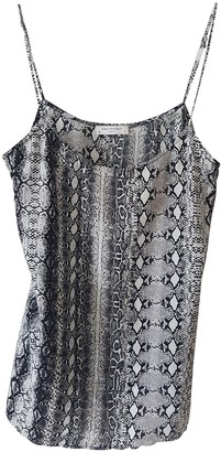 Equipment Grey Silk Tops