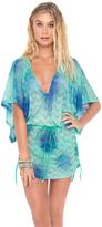 Luli Fama Siete Mares Cabana V-Neck Dress in Multicolor (L460976)