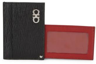 Salvatore Ferragamo Textured Leather Card Case