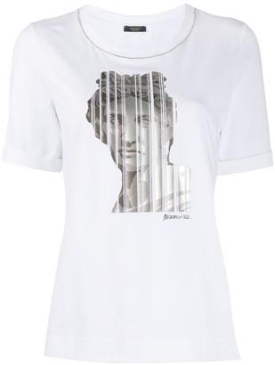 Peserico statue head print T-shirt
