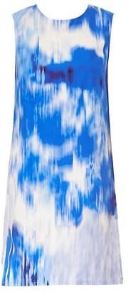 Carolina Herrera Sleeveless Tie-Dye Shift Dress