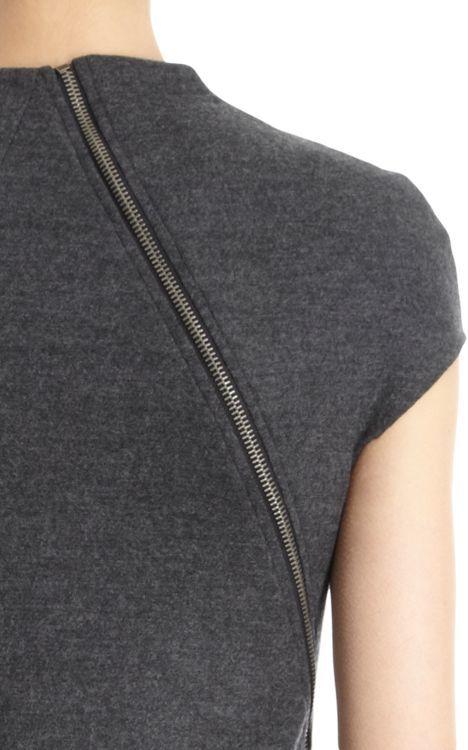 Helmut Lang Asymmetric Sleeveless Dress-Black