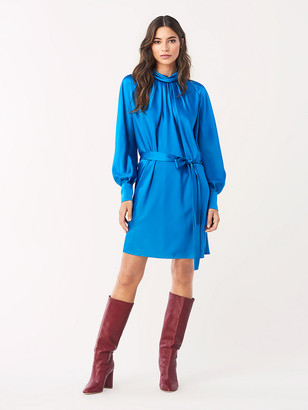 Diane von Furstenberg Veda Soft Satin Mini Dress