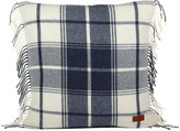 Gant City Check Cushion - Indigo Blue - 50x50cm