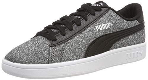 Puma Sko Smash v2 Glitz Glam Jr BlackSilver