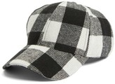 BP Women's Buffalo Check Baseball Cap - Black