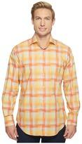 Thomas Dean & Co. - Long Sleeve Hombre Plaid Sport Shirt Men's Clothing
