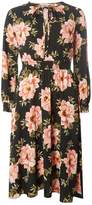 Dorothy Perkins Petite Black Floral Fit and Flare Dress
