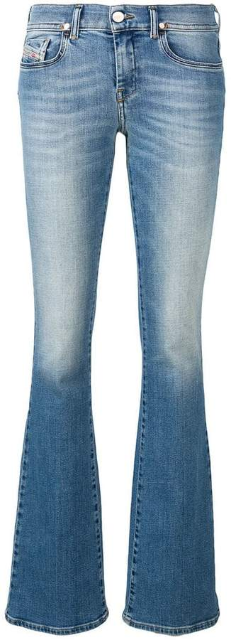 Diesel low rise faded jeans