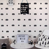 Parkins Interiors Monochrome Crosses And Masks Wall Stickers