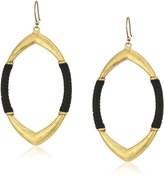Lucky Brand Leather Wrapped Hoop Earrings