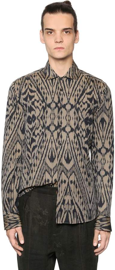 Etro Psychedelic Printed Washed Cotton Shirt