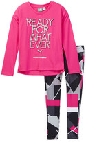 Puma Ready For Whatever Tee & Leggings Set (Little Girls)