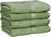 Ringspun Utopia Towels 30x56 Inches Luxury Cotton Bath Towels, 4 Pack, Sage Green