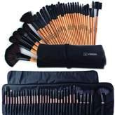 Blush Lingerie Makeup Brushes SetProfessional Makeup Brush Cosmetic Set Kit Wooden Handle Cosmetics Foundation Eyeliner Eyeshadow Face Powder Lipstick Brushes-32 piece