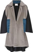 Color block cocoon coat