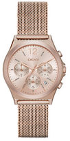 DKNY Parsons Rose Goldtone Stainless Steel Mesh Strap Chronograph, NY2486