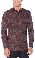 Perry Ellis Levels Print Long-Sleeve Woven Shirt