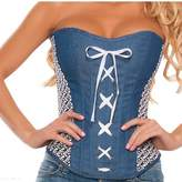 Wonder Lingerie Plus Women's Denim Corset
