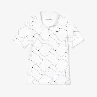 Lacoste Women's SPORT Printed Stretch Jersey Golf Polo