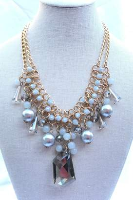 Fashion Jewelry Shades-Of-Grey Statement Necklace