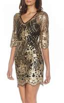 TFNC Casey Sequin Embroidered Minidress
