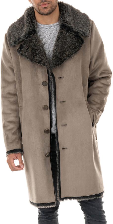 Mens Fur Lined Coat The World S, Fur Coats Mens Faux