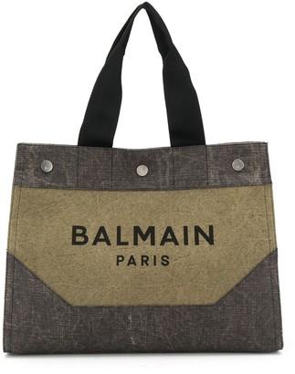 Balmain Logo Print Tote