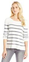 Joie Women's Elder Textural Yarn Stripe Longsleeve Sweater
