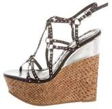 Alice + Olivia Studded Wedge Sandals