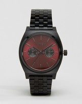 Nixon Time Teller Deluxe Watch In Black