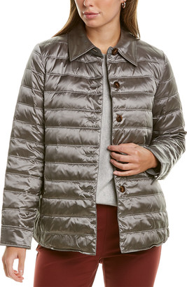 Lafayette 148 New York Short Delroy Wool-Lined Down Coat