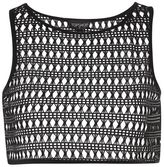 Topshop Lace crop top cover up