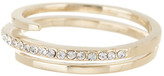 Judith Jack 10K Gold Plated Sterling Silver Wrap Band Pave Crystal Ring - Size 8