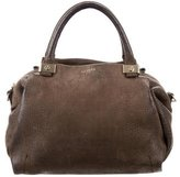 Lanvin Embossed Leather Satchel