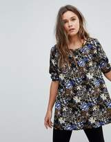 Rock & Religion Floral Print Tunic Dress