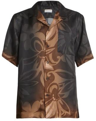 Dries Van Noten Carltone Floral Short-Sleeve Button-Front Shirt