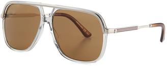 Gucci Men's Metal Aviator Sunglasses