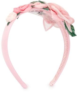 Dolce & Gabbana Rose Applique Hairband