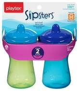 Playtex Sipsters Stage 2 Spout Sippy Cup 9oz 2 Pack Assorted Colors