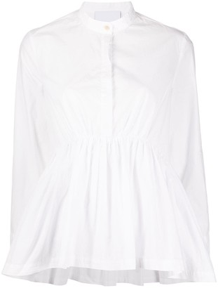 Erika Cavallini band-collar A-line blouse