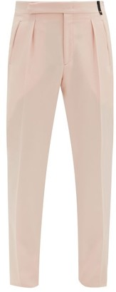 Fendi Pleated Wool-blend Cavalry Twill Suit Trousers - Pink