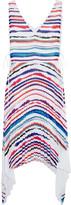 Emilio Pucci Pleated striped chiffon dress