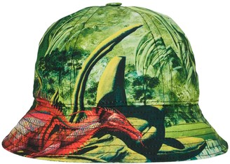 Valentino Green And Red Dragon Bucket Hat