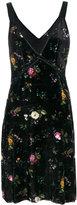 R 13 floral velvet slip dress