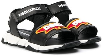 DSQUARED2 touch strap sandals